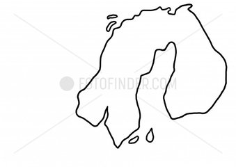 Skandinavien Finnland Schweden Norwegen Nordeuropa Nordkap Karte Landkarte
