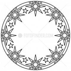 Ornament Sterne Schneekristall stars snow crystal snowflake 7