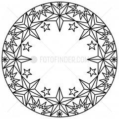 Ornament Sterne Schneekristall stars snow crystal snowflake 9