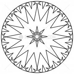 Ornament Sterne Schneekristall stars snow crystal snowflake 3