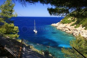 Kroatien  Mittel-Dalmatien  Insel Vis  Bucht Gradac