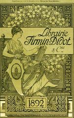 Buchprospekt Librairie Firmin-Didot  Paris  1892