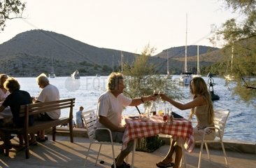 Kroatien  Kornaten  Insel Katina  Fischrestaurant Aquarius