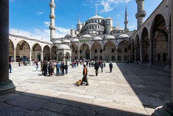 Blaue Moschee Innenhof