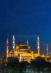 Blaue Moscheein der blauen Stunde