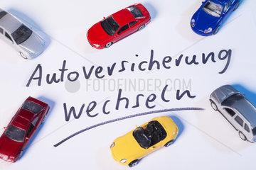 Aufforderung zum Wechseln der Autoversicherung