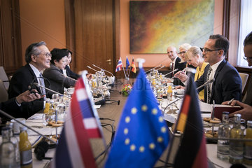 Heiko Maas trifft Aussenminister von Thailand Pramudwinai