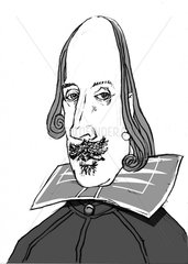 William Shakespeare 2 monochrom