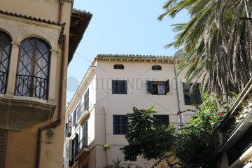 Gebaeude in der Calle Estanc  Palma  Mallorca  Spanien  Europa
