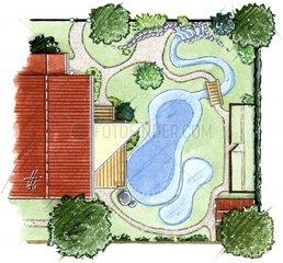 Gartenteich planen Grundriss