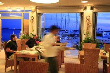 Kroatien  Kornaten  Insel Ravni Zakan Restaurant Konoba Zakan