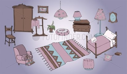 Illustration Girl's bedroom