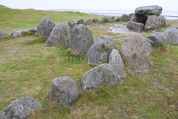 Huehnengrab Harhoog aus der Jungsteinzeit  Neolithikum in Keitum
