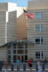 Berlin  Deutschland  die Fahne der Vereinigten Staaten von Amerika