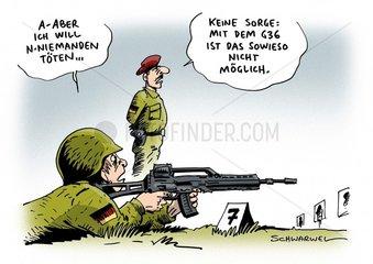 Bundeswehr-Gewehr : Tests bestaetigen Praezisions-Maengel an G36