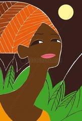 Junge afrikanische Frau