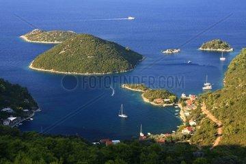 Kroatien  Sued-Dalmatien  Insel Mljet  Bucht Prozura