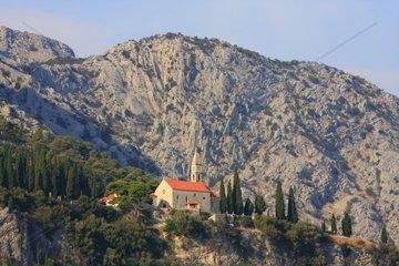 Kroatien  Sued-Dalmatien  Insel Peljesac  Kirche Gospa od Karmena