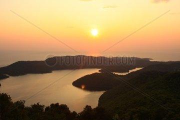 Kroatien  Sued-Dalmatien  Insel Mljet  Veliko Jezero