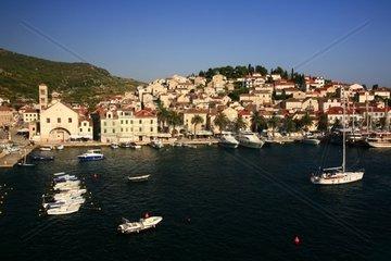Kroatien  Mittel-Dalmatien  Insel Hvar  Altstadthafen Hvar