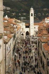Kroatien  Sued-Dalmatien  Altstadt Dubrovnik  Stradun