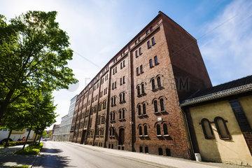 Fassade der Muellroser Muehle  Muellrose  Landkreis Oder-Spree  Brandenburg  Deutschland
