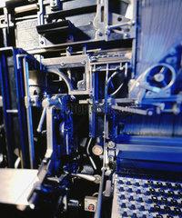Hamburg  Deutschland  Setzmaschine in Druckerei