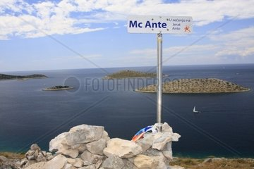 Kroatien  Kornaten  Insel Kornat  Aussichtspunkt Berg Vrulje