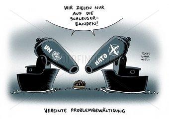EU-Militaereinsatz gegen Schlepper Steinmeier rechnet mit UN-Mandat