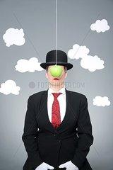 Hommage an Magritte: Sohn des Menschen