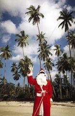 Weihnachtsmann winkt