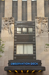 General Electric Building  vormals RCA Building  ein Wolkenkratzer in New York und Teil des Rockefeller Center-Komplexes  Manhattan  New York City  USA