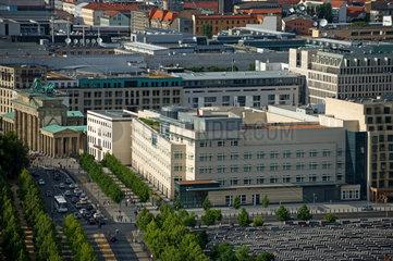 Berlin  Deutschland  Botschaft der USA am Brandenburger Tor