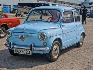 Jerez  Spanien  12 Oktober 2013. Seat 600. Dieses Auto war eine Kopie des Fiat 600 und wurde zwischen 1957 und 1963 gebaut