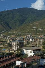Neues Wohnquartier am Stadtrand von Thimphu  Bhutan