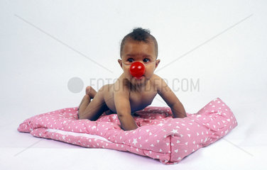 Baby mit roter Nase / baby with red nose