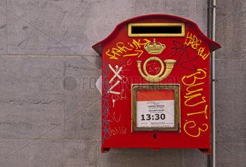 Briefkasten  Bruessel  Belgien  Europa