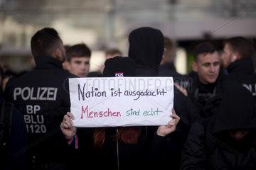 Gegendemo - Wir fuer Deutschland - Rechte Demo