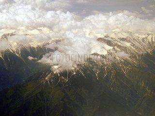 Griechenland Berg Olymp Wolken Schnee Gipfel Bergmassiv 2