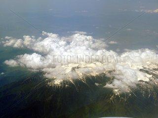 Griechenland Berg Olymp Wolken Schnee Gipfel Bergmassiv 3