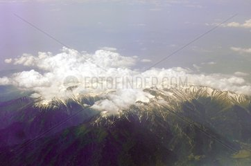Griechenland Berg Olymp Wolken Schnee Gipfel Bergmassiv 1