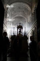 Sevilla  Spanien  die Fronleichnamsprozession in der Capilla del Sagrario