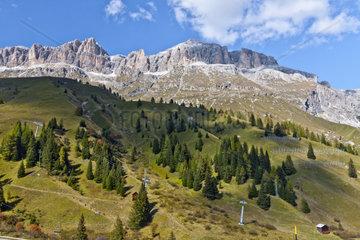 Campolongo Pass  Dolomiten  Italien