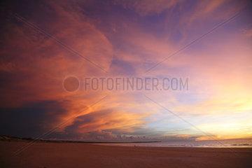 Broome  Australien  Himmel ueber Broome