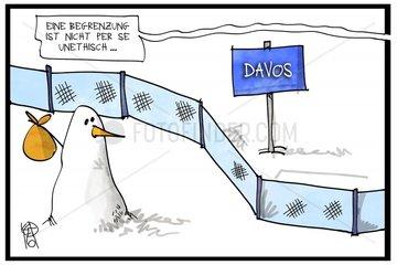 Begrenzungen in Davos
