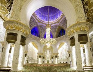 Sheikh Zayed Mosque  Main Prayer room  Abu Dhabi  United Arab Emirates