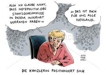 Merkel positioniert sich - Druck auf Range waechst