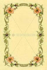Briefpapier  Blumenmotiv  1907