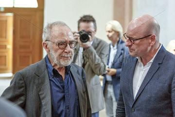 Gerhard Richter mit Markus Lewe (CDU)  Oberbuergermeister der Stadt Muenster