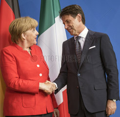 Merkel + Conte